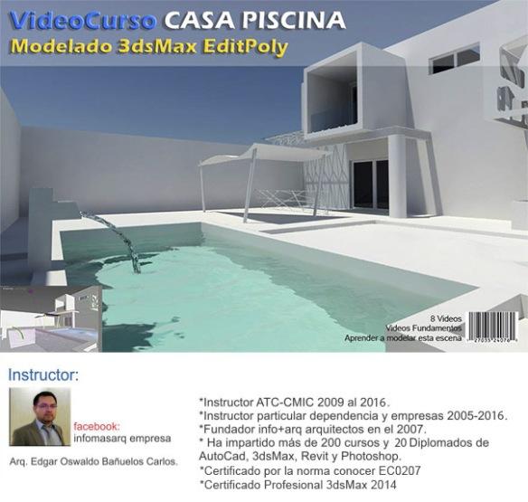Modelado Casa Piscina (wordpress)